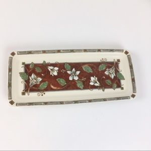 Pfaltzgaff Mission Flower Rectangle Serving Tray